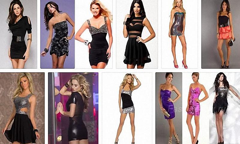 Модные клубные платья