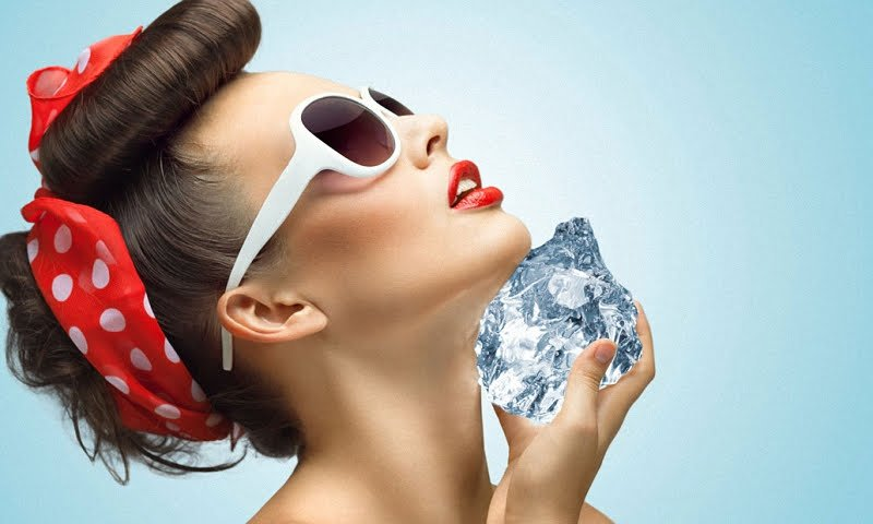 Кубики льда для лица, как косметические средства