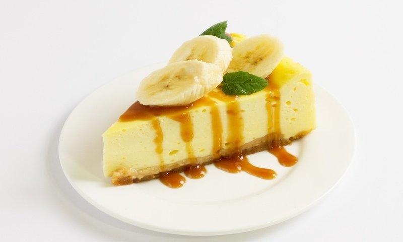 Легкий торт «Чизкейк из банана»