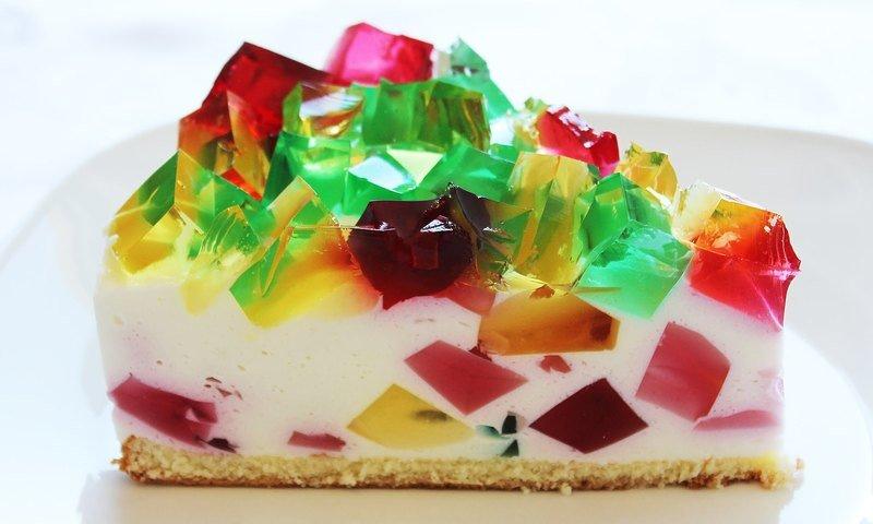 Сливочный торт «Разноцветное стекло»
