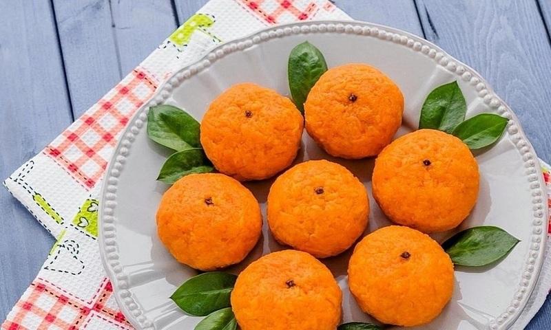Необычная закуска «Мандарины» – вкусно, быстро и красиво